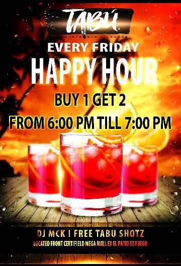 Tabu Friday Specials